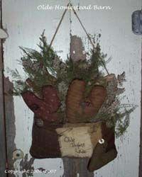 PriMitive Hanging Pocket Olde Thyme Love EPATTERN