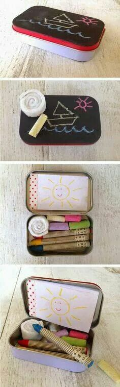 Recycled mint tin