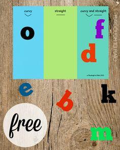 Buchstaben nach Formen sortieren
