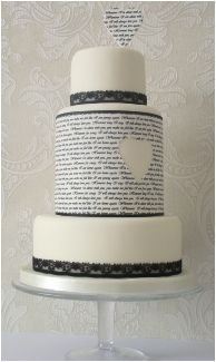 "Unique wedding cake with words and hearts. We can help achieve this look at Dallas Foam with cake dummies, cupcake stands and cakeboards. Just use ""2015pinterest"" as the item code and receive 10% off your first order @ www.dallas-foam.com. Like us on Facebook for more discount offers!"