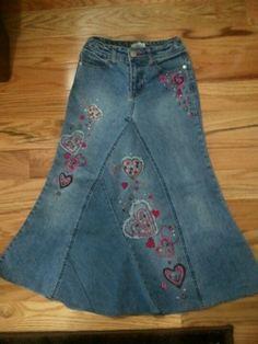 #Jean skirt with hearts  jean skirt #2dayslook #jean style #jeanfashionskirt  www.2dayslook.com