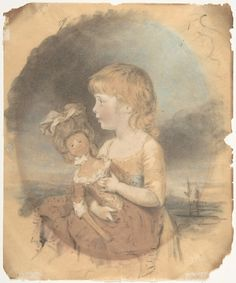 Child Holding a Doll, Artist: John Downman (British, Ruabon, Wales 1750–1824 Wrexham, Wales), Date: 1780