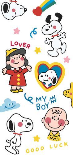 Snoopy Wallpaper, Cartoon Wallpaper Iphone, Cute Cartoon Wallpapers, Kawaii Wallpaper, Disney Wallpaper, Simple Artwork, Aesthetic Pastel Wallpaper, Journal Stickers, Cute Stickers