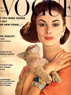 Wilhelmina Cooper for Vogue, January 1962, photo Karen Radkai