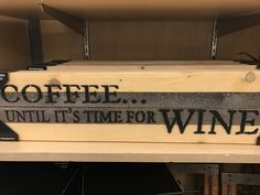 Wood sign. From Bed Bath & Beyond