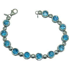 Blue Topaz Bracelet https://www.goldinart.com/shop/colored-gemstone-bracelets/blue-topaz-bracelet