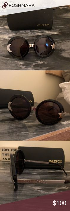 Wildfox star and moon sunglasses Big round sunglasses from Wildfox with stat and crescent moon detail Wildfox Accessories Sunglasses