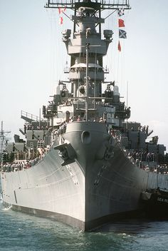 USS Missouri BB-63 | Now docked permanently as a museum at Pearl Harbor.