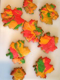 Autumn leaf cookies!