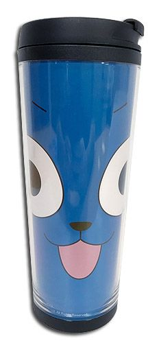 Department is Merchandise, Home, Mugs. Primary color is Blue. Publisher is GE Animation. Series is Fairy Tail Fairy Tail, Primary Colors, Tumbler, Animation, Mugs, Face, Happy, Drinkware, Tumblers