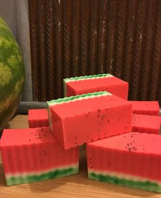 Watermelon Soap by TheSimpleSoapsCo on Etsy