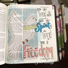 2 Corinthians 3:17 @bowed.anchor.journaling #illustratedfaith #biblejournaling
