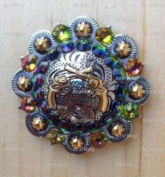 Items similar to Custom bling crystal rhinestone conchos made with Swarovskis! on Etsy Wither Strap, Lose A Stone, Headstalls For Horses, Painting Leather, Soft Towels, Handmade Items, Handmade Gifts, Crystal Rhinestone, Feather