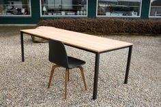 First pictures of the table Less Is More Table. #LessIsMore #JacobPlejdrup #Oak #Black #Steel #DanishDesign #Furniture #dk3 www.dk3.dk