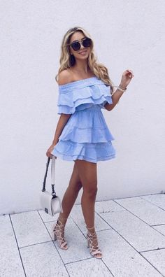 this flirty little off the shoulder dress was made for date night! can't get enough of everything off the shoulder...is it just me or is everyone else's entire summer wardrobe ALL off the shoulder styles?!