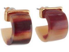 LAUREN by Ralph Lauren Cape Horn Small Horn 3/4 Hoop Earring