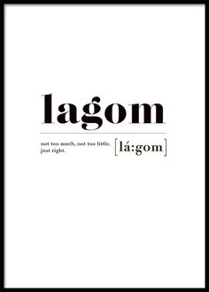 Lagom Poster in the group Prints / Sizes / 13cm x 18cm at Desenio AB (2602)