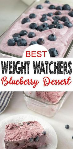 {Weight Watchers Blueberry Dessert} Easy simple 3 ingredient Blueberry desserts u will want to check out! Blueberry Recipes Low Calorie, Easy Blueberry Desserts, Low Calorie Desserts, High Calorie Meals, Low Calorie Recipes, Fluff Desserts, Cool Whip Desserts, Köstliche Desserts, Dessert Recipes