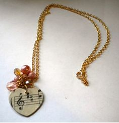 Music Lover's Necklace | AllFreeJewelryMaking.com