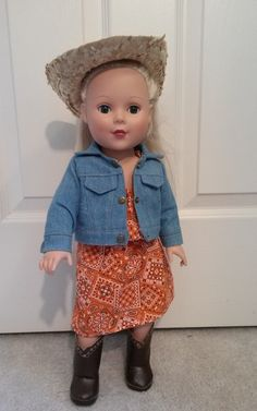 Check out this item in my Etsy shop https://www.etsy.com/listing/451783916/18-inch-girl-doll-outfit-61