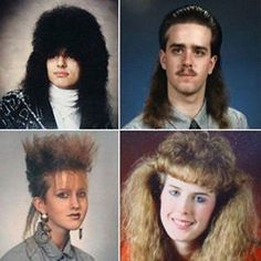 Revisit the era of big hair and shoulder pads with these thirty hilarious pictures of fashion that prove it's a decade we should pretend never happened. 80s Haircuts, 80s Hairstyles, 80's Fashion Pictures, Leandro E Leonardo, Big Hair Bands, 1980s Hair, Attitude, The Wedding Singer, 80s And 90s Fashion