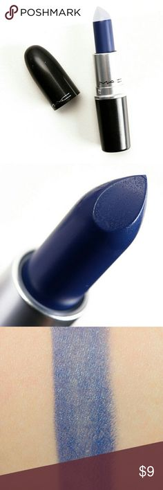 MAC Indigo-Go Lipstick Cool indigo-colored lipstick from MAC Cosmetics. Can build up the color to make a bold statement! Swatched but not worn before. MAC Cosmetics Makeup Lipstick