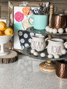 Spring Coffee Bar - Re-Fabbed Vegetable Bin, Black And White Coffee, Favorite Paint Colors, Sherwin William Paint, Diy Bar, Dining Room Walls, Patriotic Decorations, My Coffee, Coffe Bar
