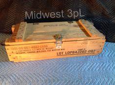 Vintage Wood Ammo Military Box C 699 for Mortar M30 Storage Crate Storage | eBay