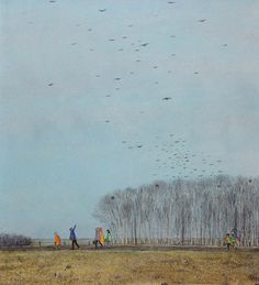 """""""crows leaving for the South"""" by William Kurelek"""