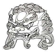 Foo Dog head by mostlymade.deviantart.com on @deviantART