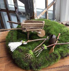 Fairy's Work by Olive Miniatures  Garden Fairy