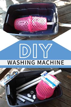 Do you need to make a simple off grid, hand operated washing machine? Here is a clear tutorial video on how I built my DIY washing machine which will help you to do it yourself too. It's cheap and easy to build and even easier to operate. Survival Life Hacks, Camping Survival, Survival Prepping, Survival Skills, Survival Gear, Wilderness Survival, Urban Survival, Emergency Preparedness Kit, Emergency Supplies