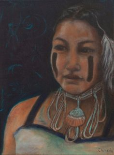 """I Hold the Knowledge Inside. Oil on canvas, 12"""" x 16""""."""