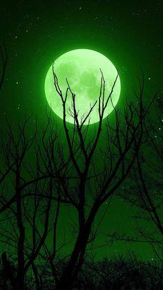 Full Moon Green IPhone Wallpaper - IPhone Wallpapers