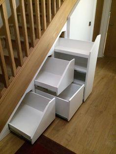 Shoe Storage Cabinet, Storage Room, Storage Cabinets, Storage Spaces, Staircase Storage, Stair Storage, Kitchen Rack, Under Stairs, Staircases