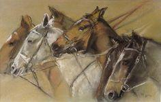 Pastel Art, Scrap, Horses, Autumn, Studio, Book, Animals, Art, Animales