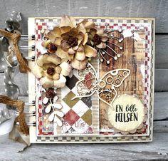 Jeg har for et stykke tid siden lavet dennebog somdt project for Wycinanka , jeg har brugt papir fra Riddersholm og pyntet med de lækre c...