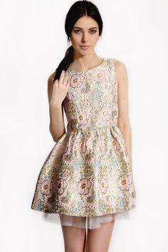 Boutique Georgie Broacde Flower Sleeveless Prom Dress >> £40.00