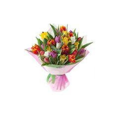 Bouquet of 25 multicolored tulips Tulips, Bouquet, Plants, Bouquet Of Flowers, Bouquets, Plant, Tulip, Floral Arrangements, Planets
