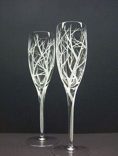 Perfct whimsical champagne glasses