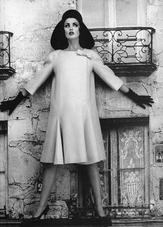Dorothea in a dress by Cardin, photo by William Klein, Paris, 1960