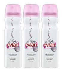 Evian water spray.  Seems froufrou and expensive, but the Europeans sure love to walk around spraying themselves with this stuff.