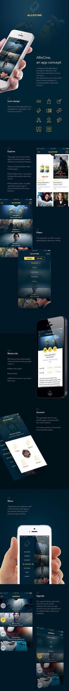 Movie mobile app design #mobile #ui #webdesign #layout #design