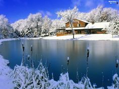 home with little winter lake