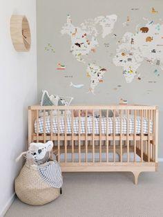 Mapa mundi quarto de bebê