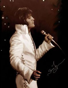Great Elvis Art Made By Sara Lynn Sanders....Elvison stage....