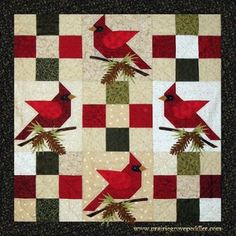 Winter's Majesty Cardinal Quilt Pattern | Craftsy