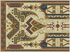 Cross Stitch Designs, Egypt, Bohemian Rug, Alphabet, Diy Crafts, Embroidery, Pattern, Home Decor, Needlepoint
