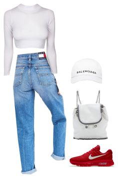 """""""Sans titre #2280"""" by frenchystyle ❤ liked on Polyvore featuring Tommy Hilfiger, NIKE, STELLA McCARTNEY and Balenciaga"""