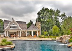 love this pool house!